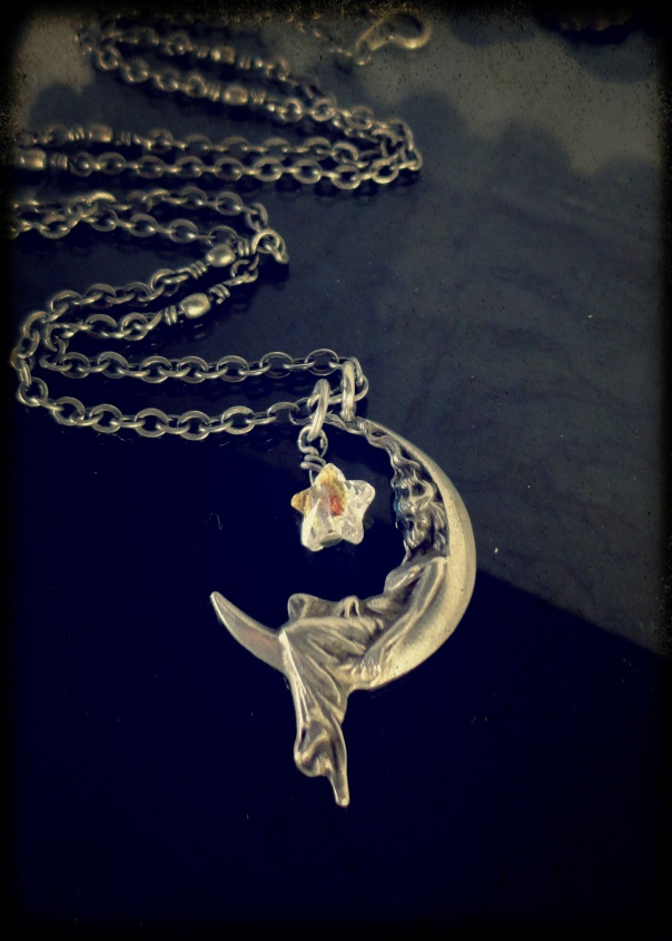 Lady in the Moon Necklace 1